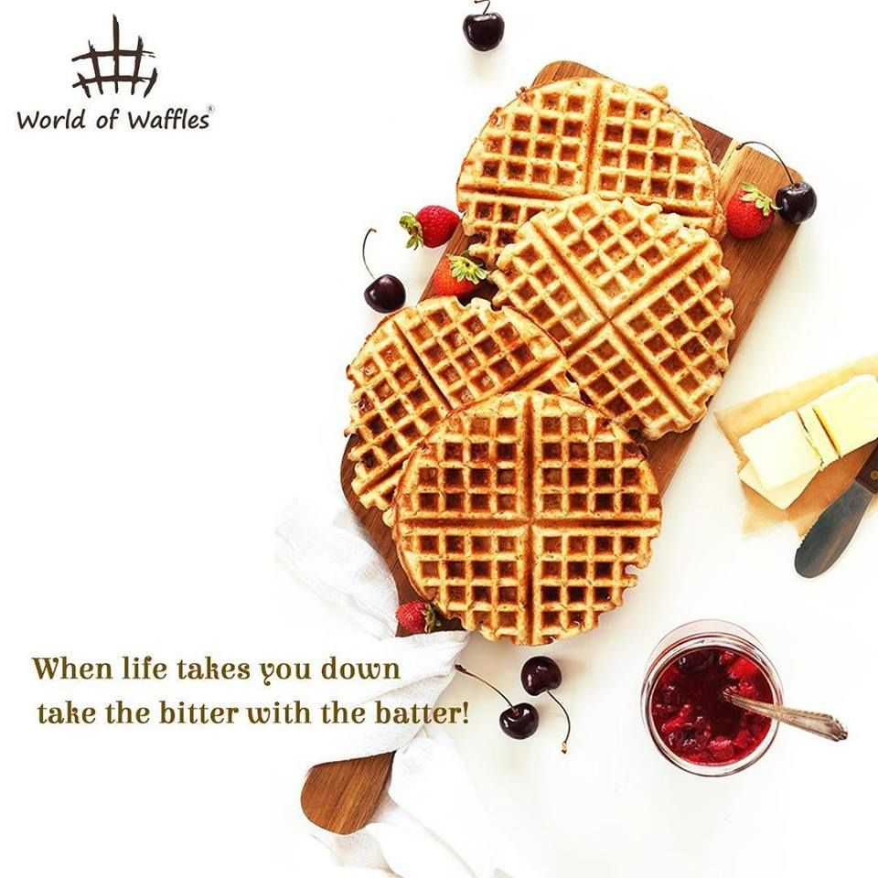 When life takes you down take the bitter with the batter! Because bad days are best forgotten over delicious waffles!