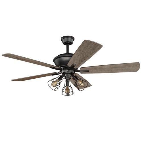New 52 3 light bronze indoor ceiling fan best priceservice ceiling fan aloadofball Choice Image