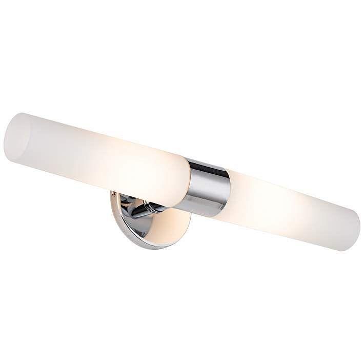 George Kovacs Chrome Wide Bathroom Light Fixture - Lamps plus bathroom lights