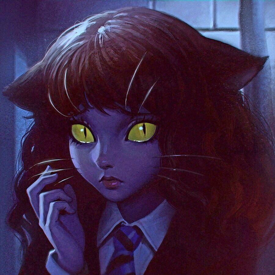 Hermione Granger. Cat Harry potter fan art, Hermione's