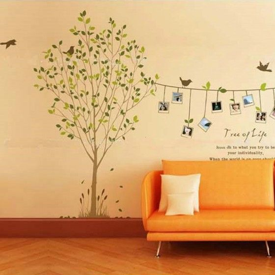 """72/"""" Tall Large Tree Wall Decals Removable Birds Cage Vinyl Home Decor Stickers"""