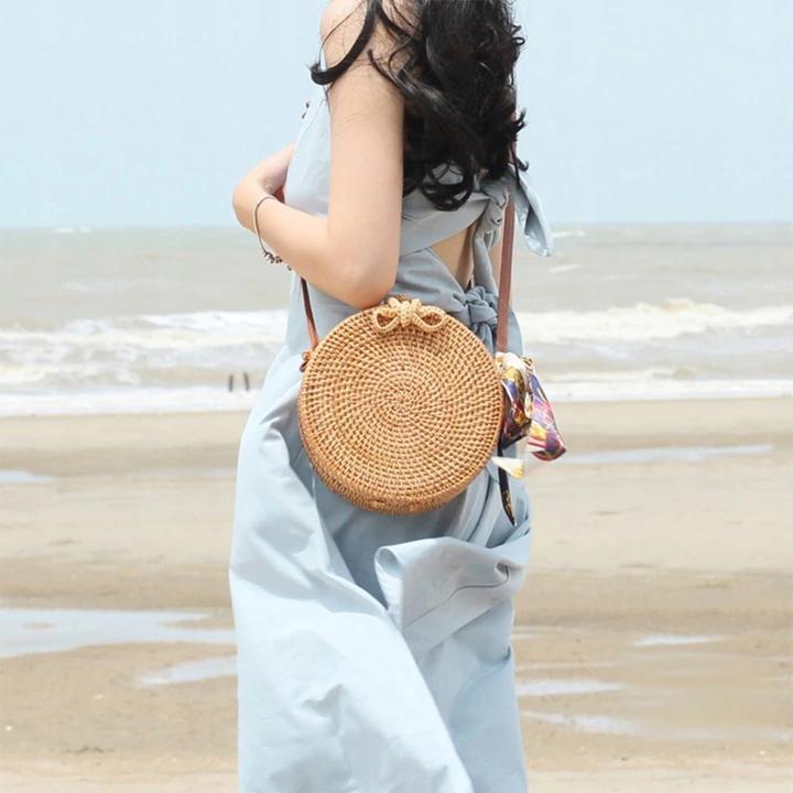 Hit 2019 Trebka Boho Ratan Wiklinowe Love 8251132049 Allegro Pl Rattan Bag Chic Crossbody Bag Shoulder Bag Fashion