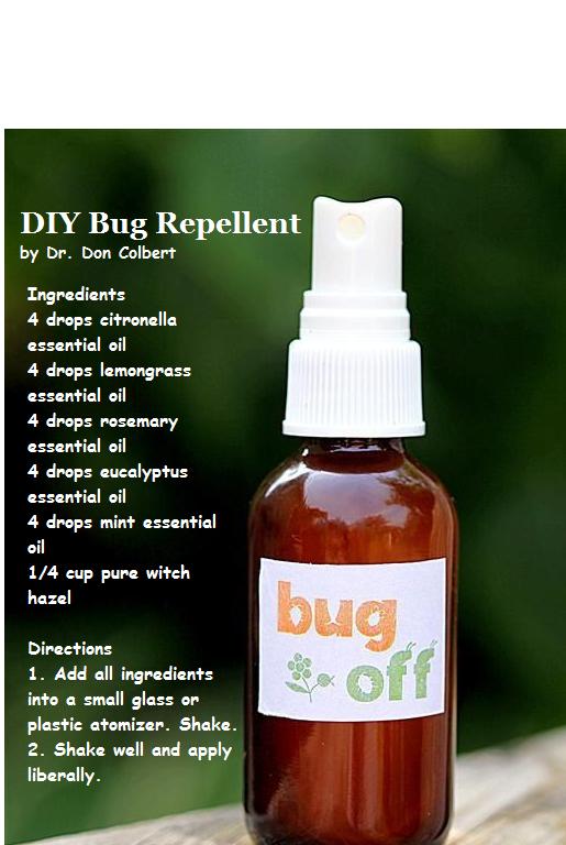 DIY Bug Repellent, made from essential oils. Essential