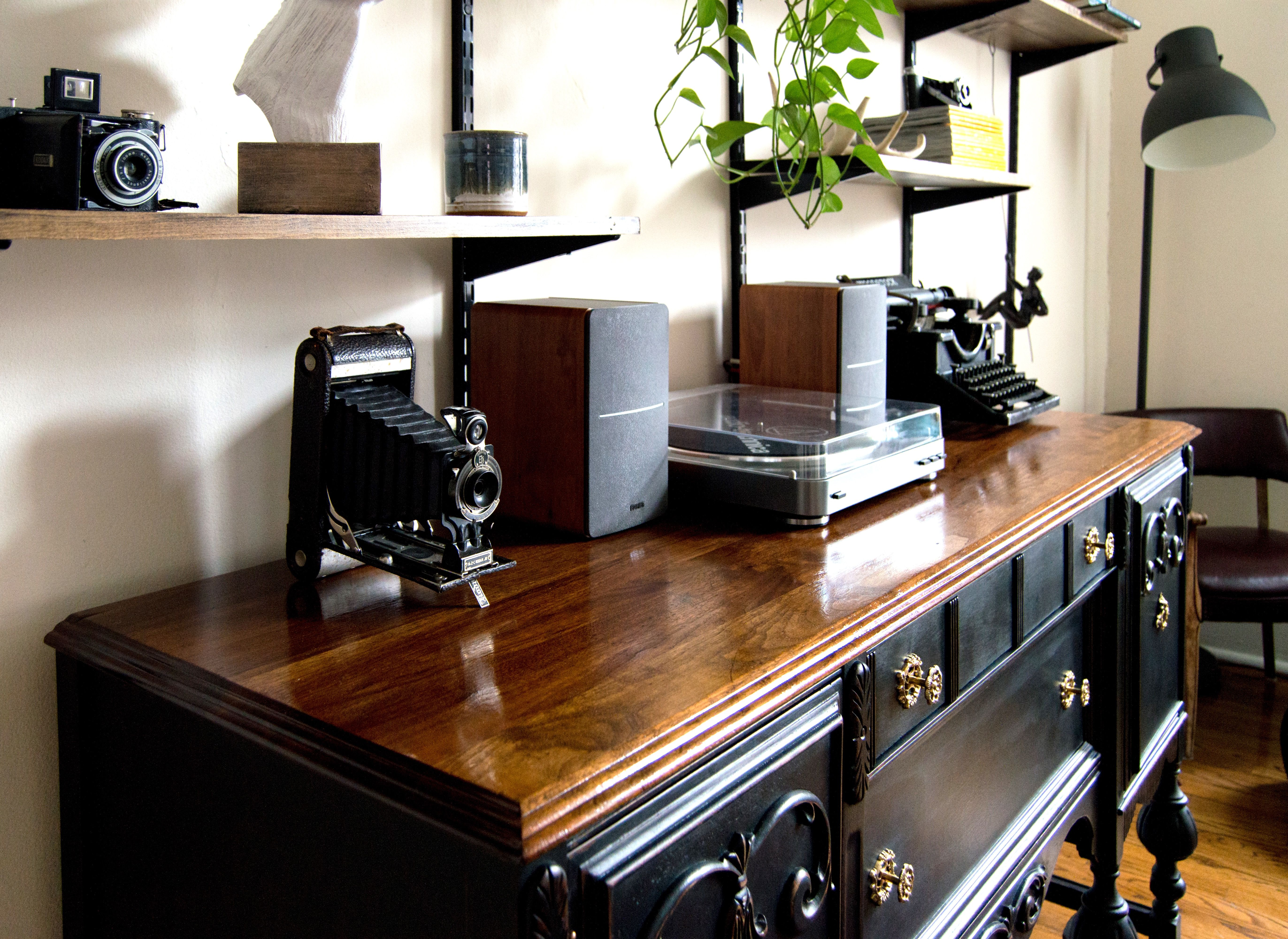 Brilliant Antique Buffet Restoration Using Black Chalk Paint Diy Download Free Architecture Designs Embacsunscenecom
