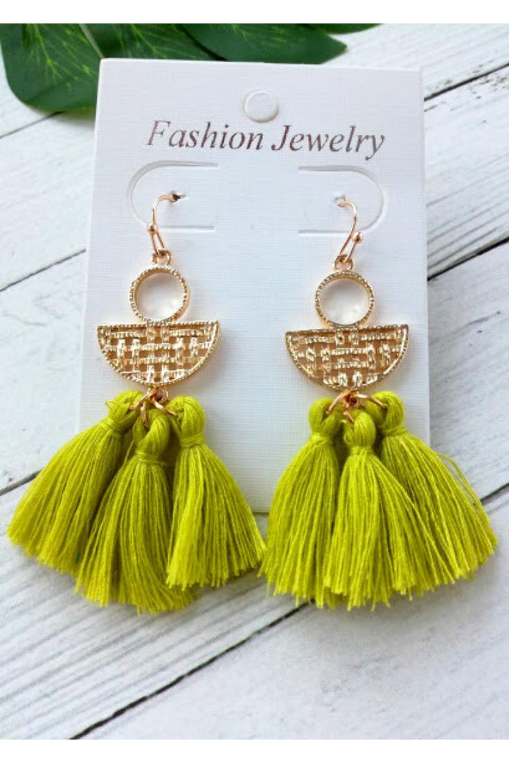 boho wedding boho jewelry bridesmaids gift threader earrings boho chic Tiny tassel earring