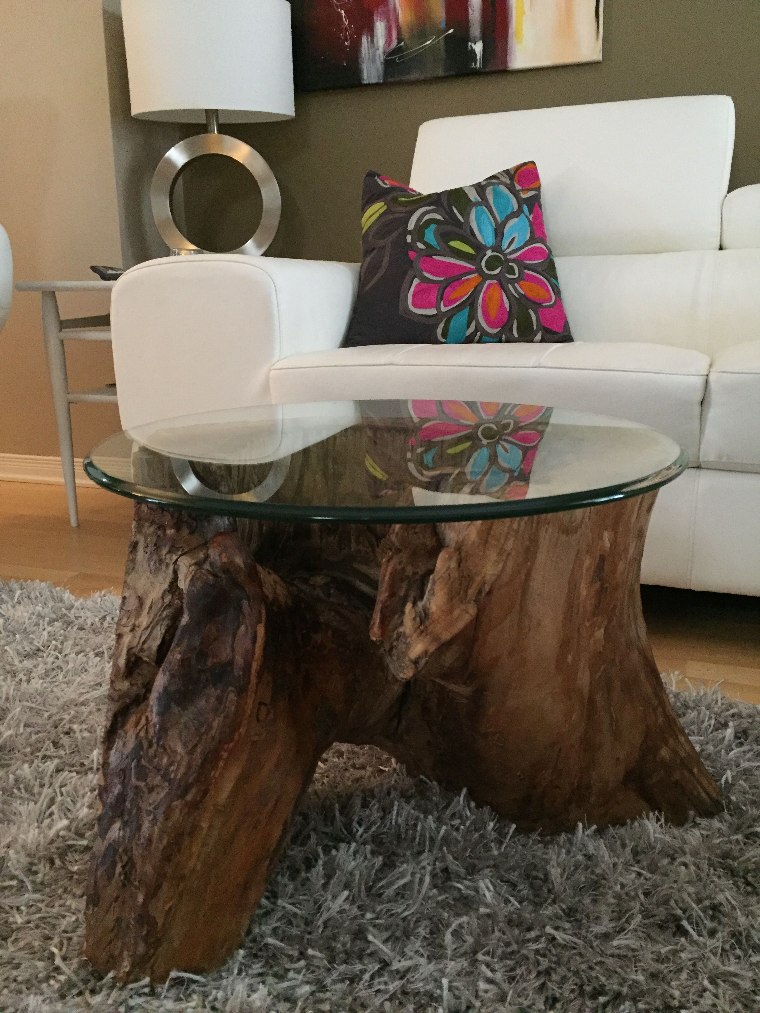 root coffee tables, root tables, log furniture, large wood stump