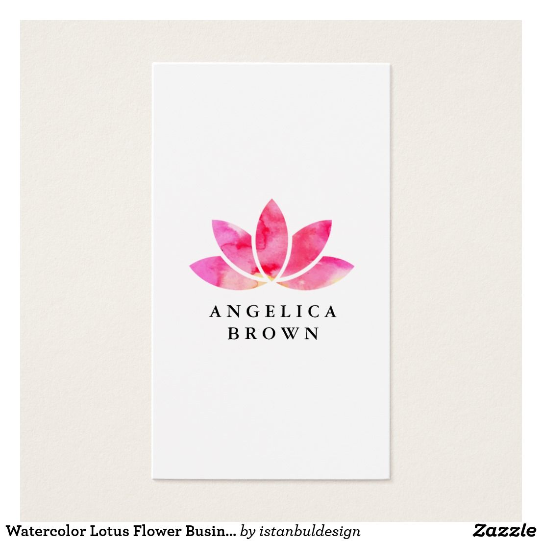 Colorful flower business card component business card ideas watercolor lotus flower business card business cards colourmoves