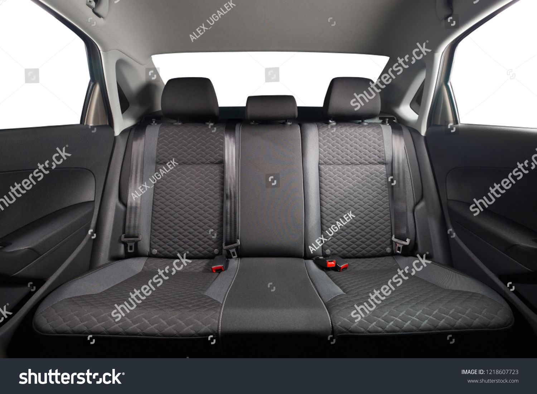 New Car Inside Clean Car Interior Black Back Seats In Sedan Car