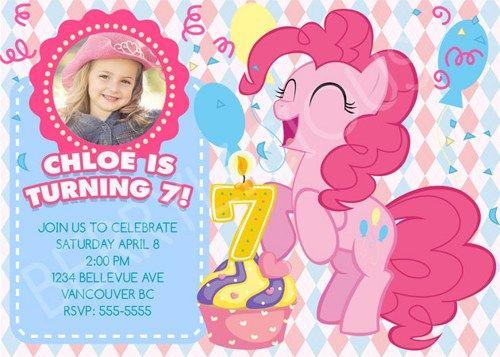 My Little Pony Birthday Invitations Birthday Party card – Free Printable My Little Pony Birthday Invitations