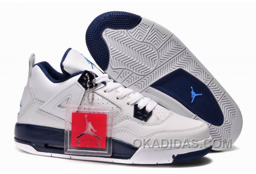 Top Deals Girls Air Jordan 4 Retro Columbia