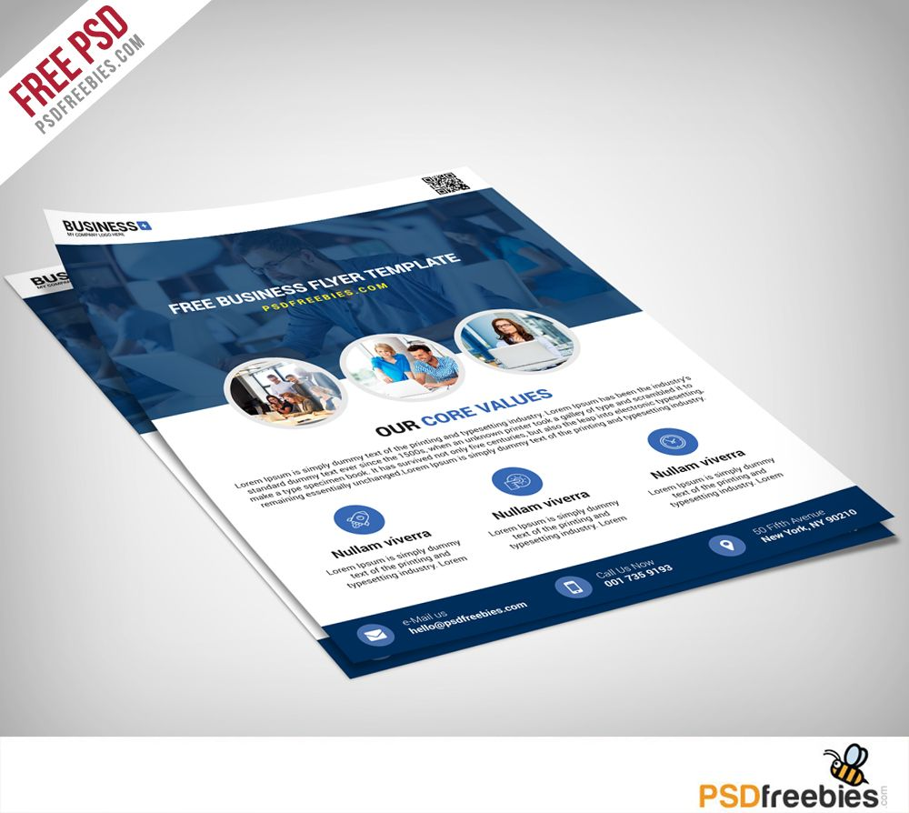 Multipurpose Business Flyer Free PSD Template | Flyer free ...