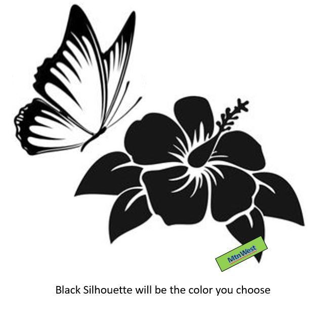 HUMMINGBIRD Flower #2 Vinyl Decal Wall Car Truck Window Laptop Home Decor