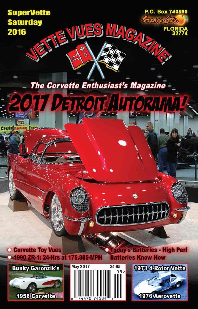 may 2017 vette vues magazine cover on the cover this 1954 roadster 73 Nova Orange corvette