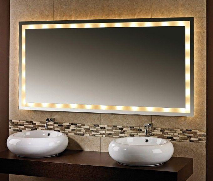 Badspiegel mit Beleuchtung Maraz mit 10 Watt G4 Halogen - badezimmerspiegel mit led