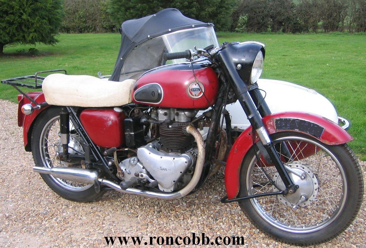 1958 Ariel FH Huntmaster 650cc Motorcycle Combination ...
