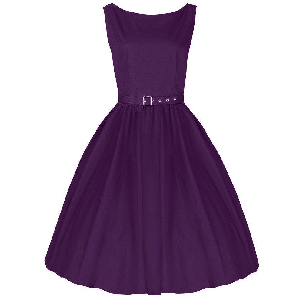 Purple Cotton Audrey Dress