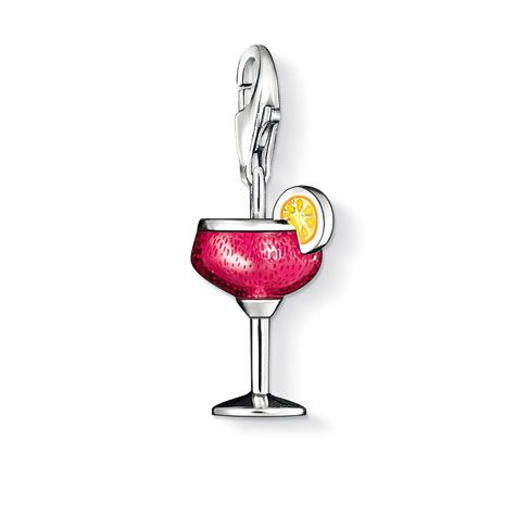 Thomas Sabo Cocktail Charm, Sterling Silver - Precious Accents