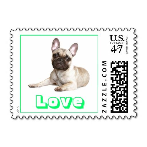 Love French Bulldog Us Postage Stamps Zazzle Com French