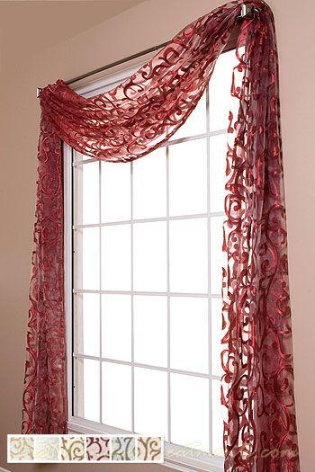 Amalfi Sheer Scarf Swag Window Topper Window Treatments Living