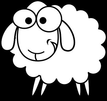 Consulte Esta Lista De Plataformas De Bancos De Imagens Sheep Clipart Sheep Clipart Black And White Sheep Drawing