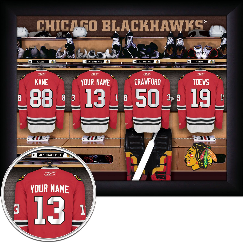 Chicago Black Hawks Personalized Framed Locker Room Photo-Hockey. $33.95, via Etsy.