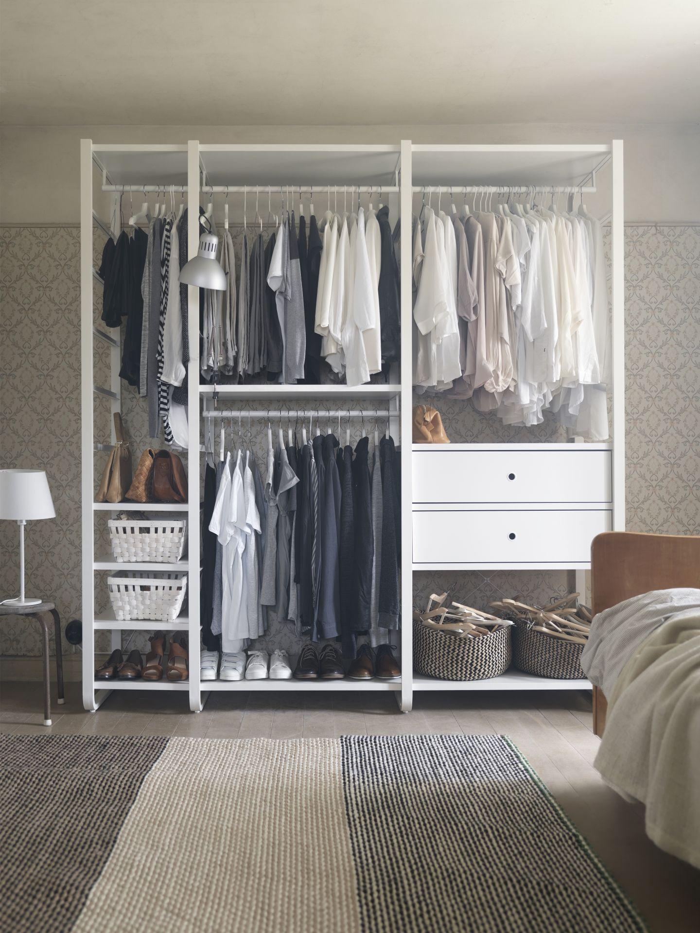 ELVARLI 3 Elemente, weiß, Bambus | Schrank | Pinterest | Ikea ...