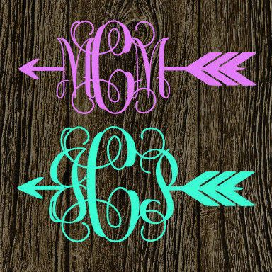 Arrow monogram decal cute arrow vinyl decal preppy arrow follow your arrow arrow car decal arrow vinyl sticker from mmvinylcreations