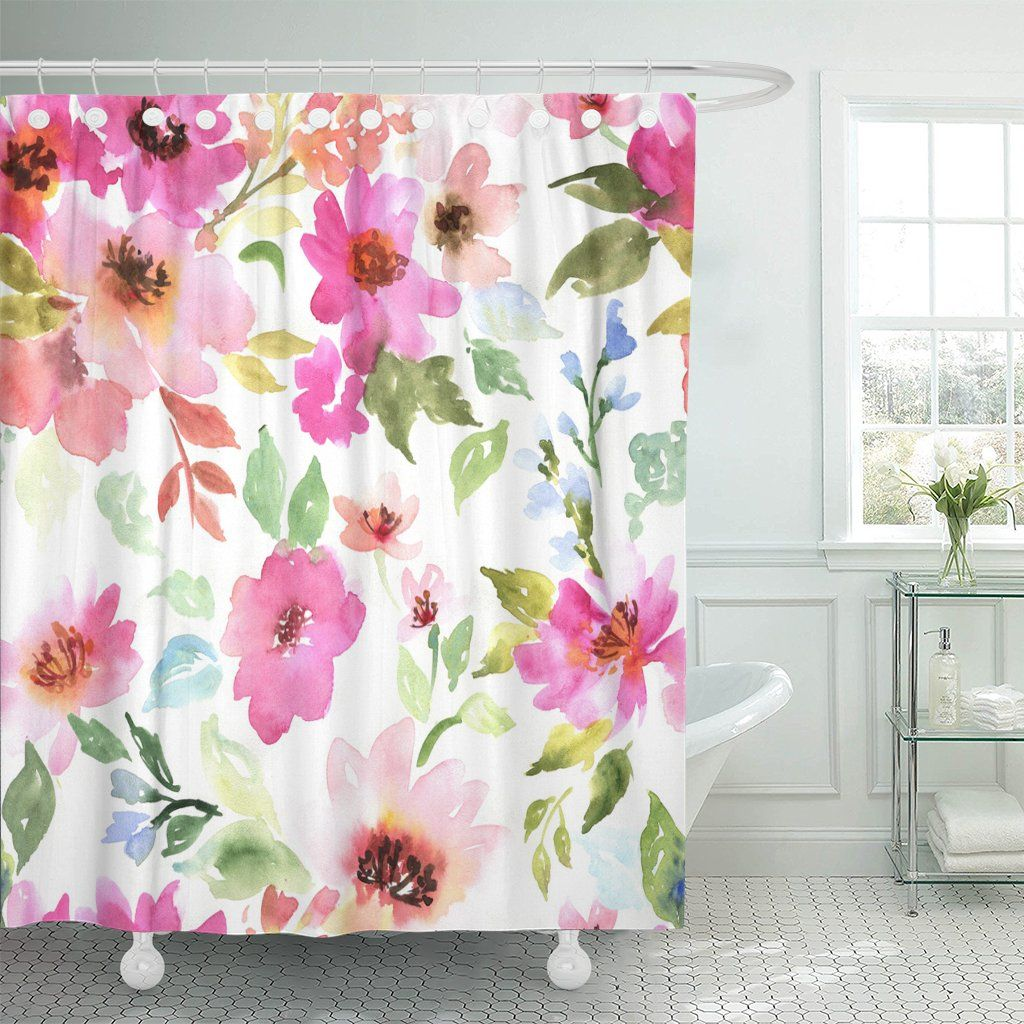 Free 2 Day Shipping Buy Pknmt Green Watercolor Floral Pattern