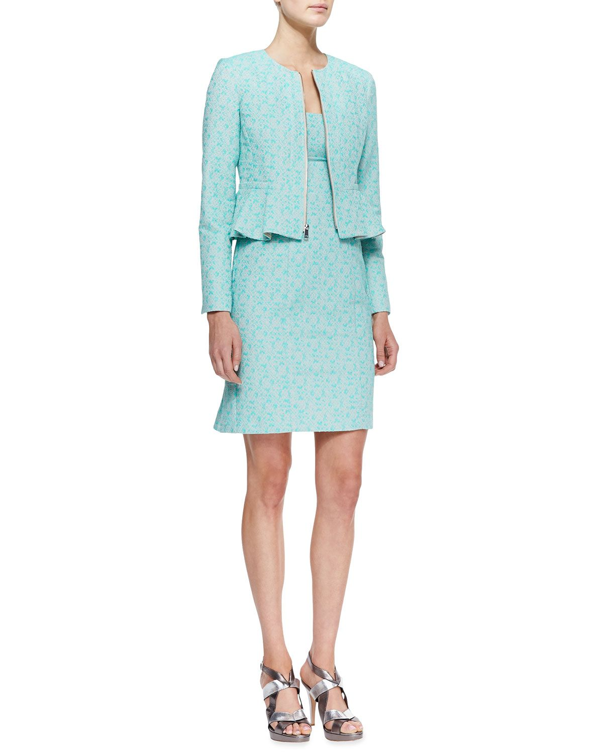 Neiman marcus dresses for weddings  Nanette Lepore Crazy For You ZipFront Jacket u Demure SquareNeck