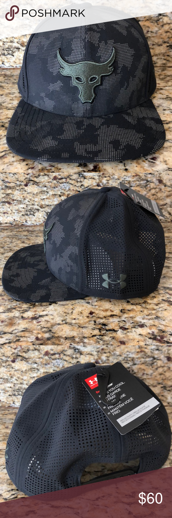 Under Armour x Project Rock Supervent Snapback Take your workout wardrobe  to the next level in the Under Armour® Men s Project Rock SuperVent® Snapback  Hat. 8dd34a6d648