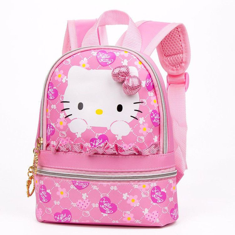 f7e205570c68 Cute Pink Hello Kitty Canvas Mini Backpack Schoolbag Kindergarten Kids Small   Unbranded  Backpack