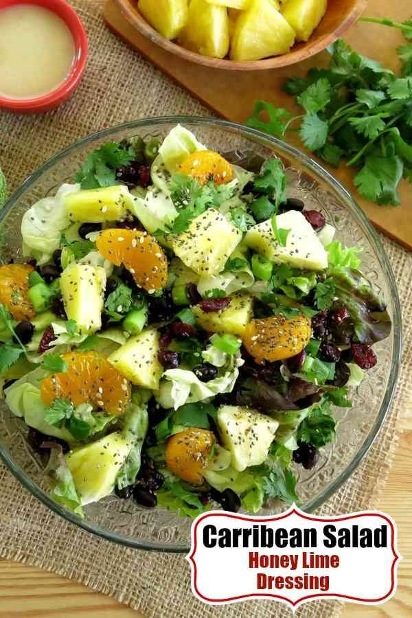 Caribbean Salad with Honey Lime Dressing made famous by Disney\'s ...