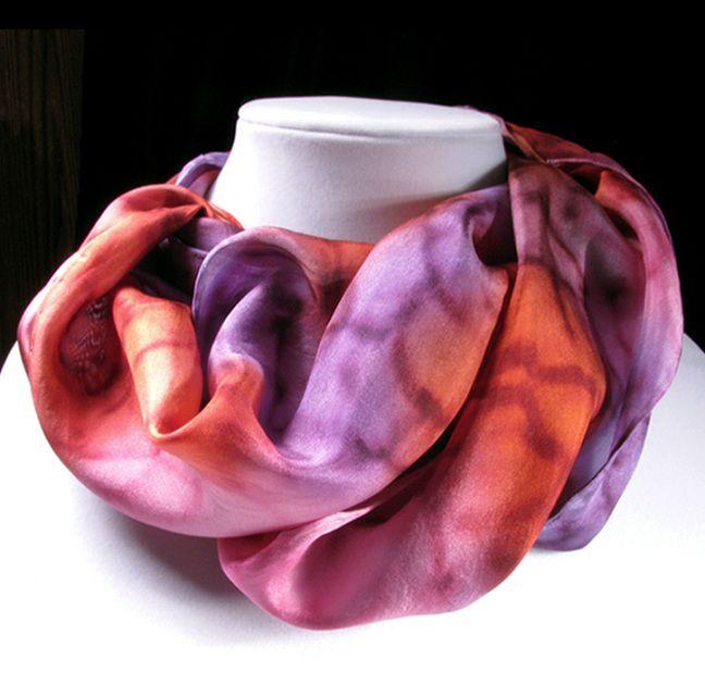 Silk Scarves - Quintessence Silk Art by Shauna Blake - Hand Painted Silk Ribbons & Scarves
