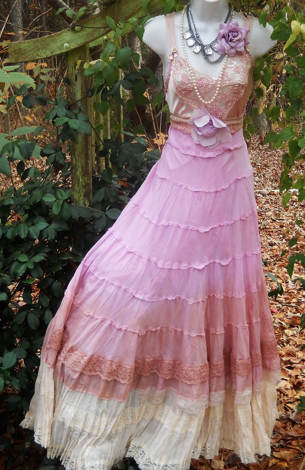Reserved for kara balance for pink maxi dress cotton lace beding