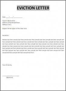Eviction Letter Template  New Az Templates    Letter