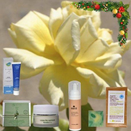 Sugerencia #regalo de #Navidad, para el cuidado de la #Piel #Seca. Crema Facial Nutritiva + Espuma Limpiadora + Exfoliante Facial Microgranulado + Jabón de Argán y Oliva. | TeQuieroBio.com