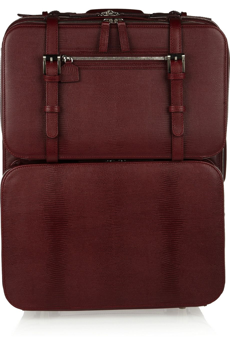 Moncrief Lizardembossed leather detachablecase travel