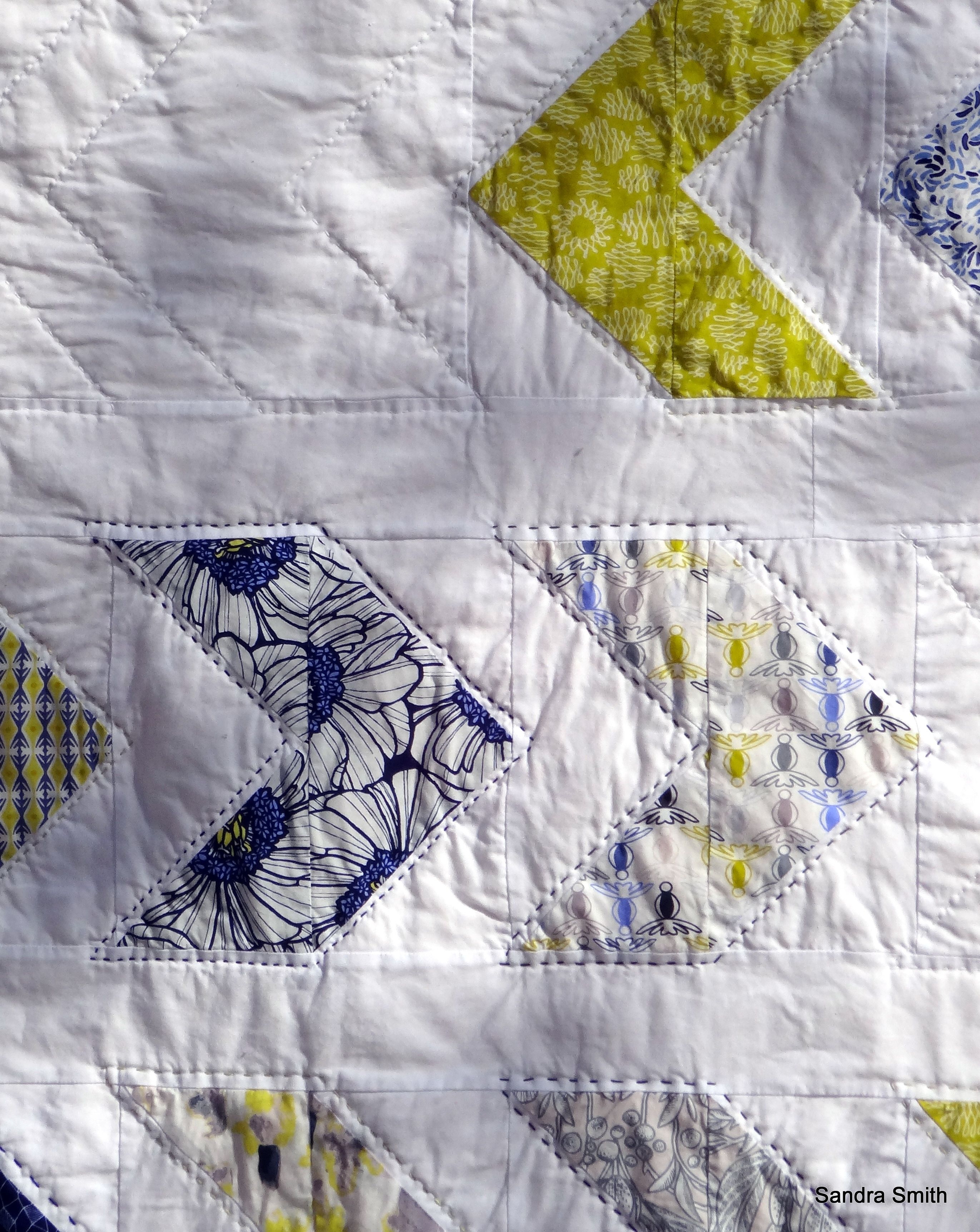 Mama's Luxury Quilt   Fabric: Luxe in Bloom    Pattern: Meander by Lella Boutique   Hand quilted.