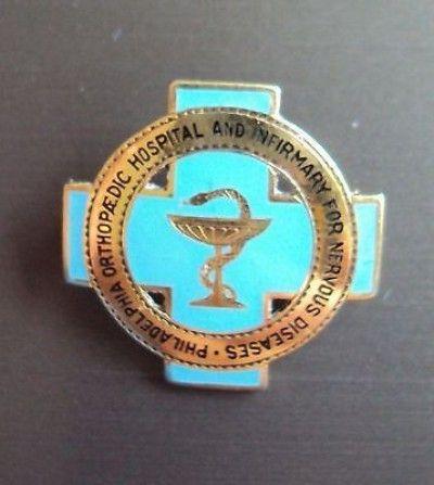 14k Gold Tiffany Co Infirmary For Nervous Diseases School Of Nursing Pin 11 25 2014 Nursing Pins Nurse Vintage Nurse