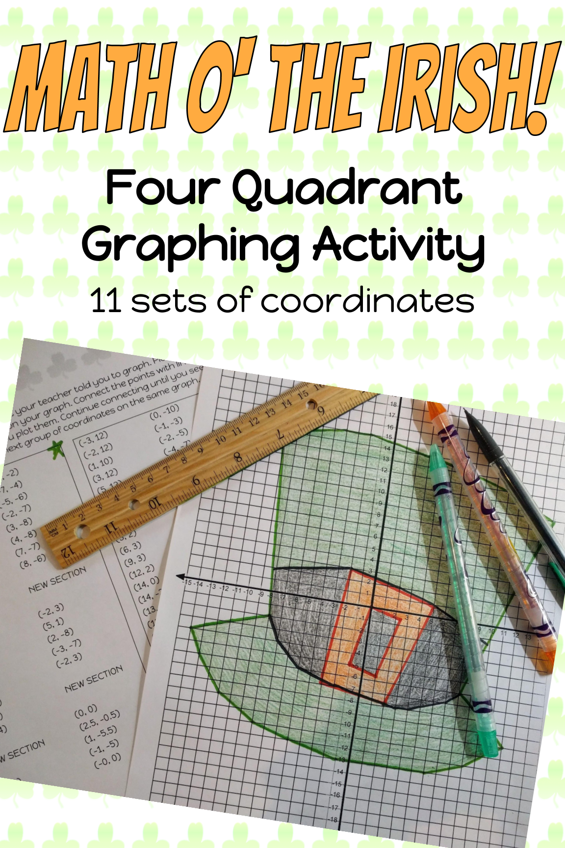 St Patrick S Day Graphing Activity Using All Four