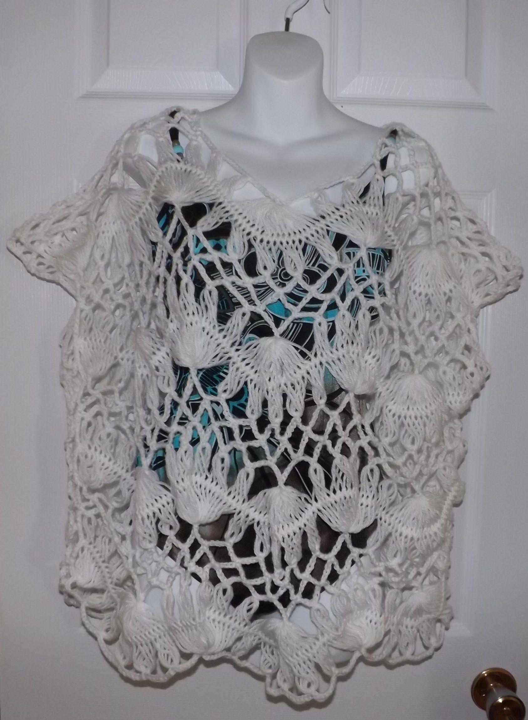 Blusa de verano hecha en Horquilla part 2 | Tejido con Horquilla ...