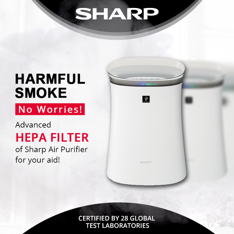 Get relief from the harmful gases & smoke with HEPA