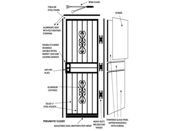 Pin by Vrinda Incorporation on Door Security Bars ,Gate
