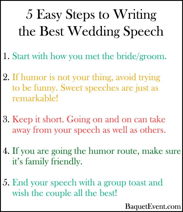 Easy Steps To Write The Perfect Wedding Speech  BE Lucky In