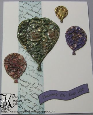 Karen's Kreative Kards: Deep Impressions with Repeat Impressions Stamps