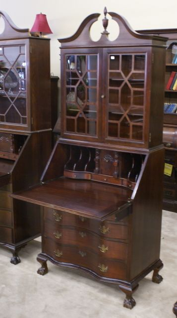 Serpentine Front Secretary Desk