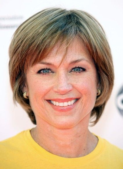 Chic Short Bob Haircut For Women Age Over 50