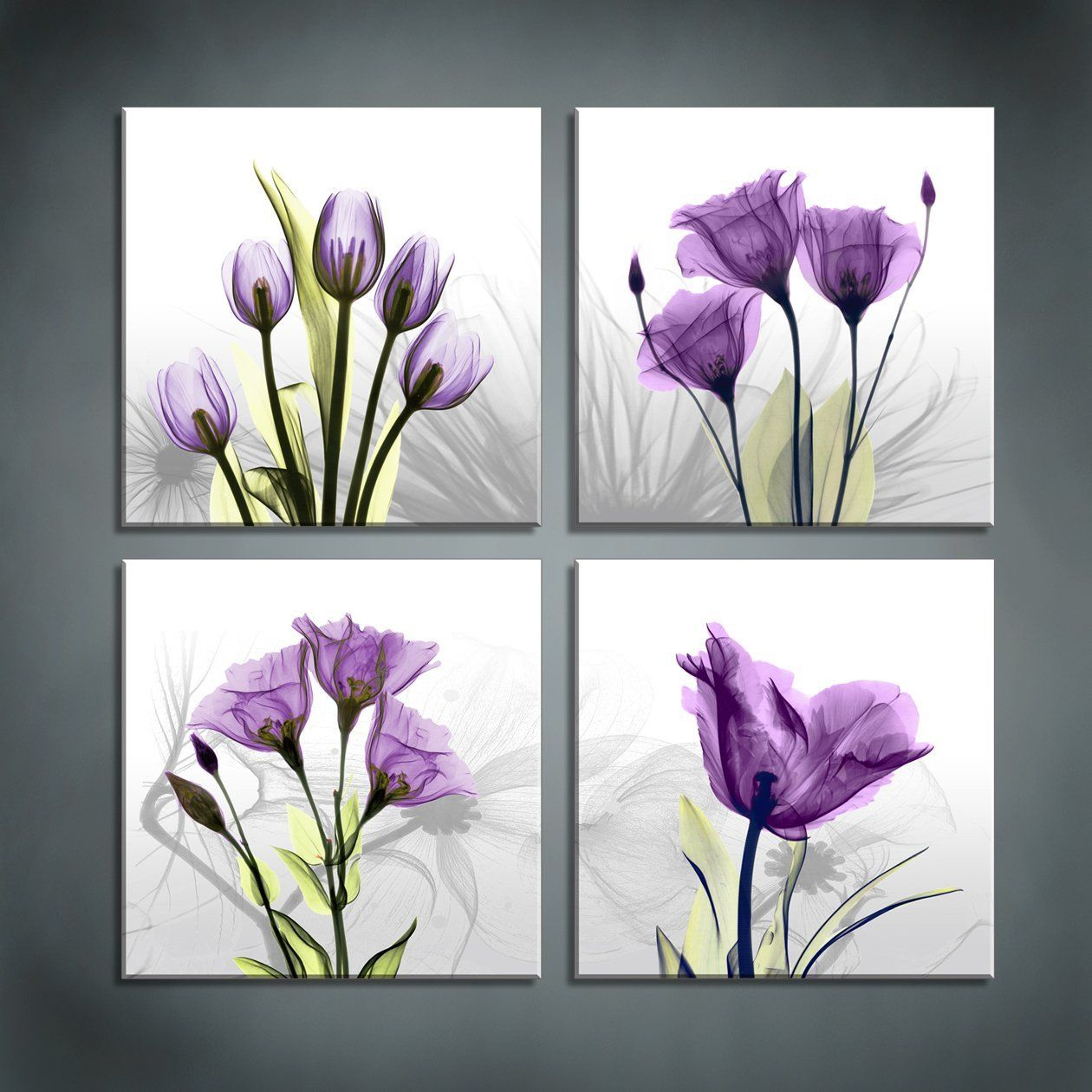 These Would Look So Cute In A Bathroom For Wall Decor Affiliate Flower Canvas Abstract Flower Painting Large Canvas Wall Art