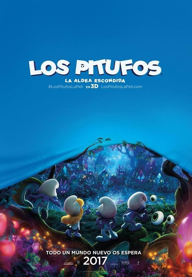LosPitufos La Aldea Escondida - Póster