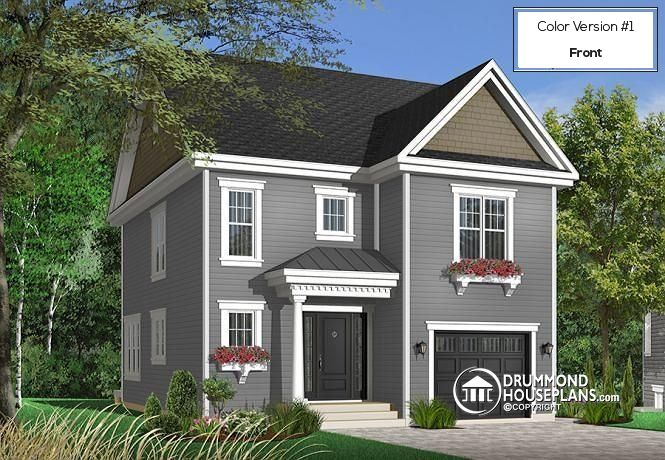 Full technical sheet and illustration of our house plan, garage ...